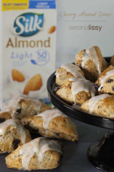 Dairy Free Cherry Almond Scones