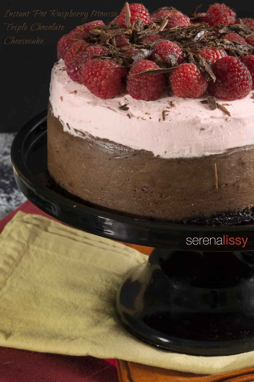 Instant Pot Raspberry Mousse Chocolate Cheesecake