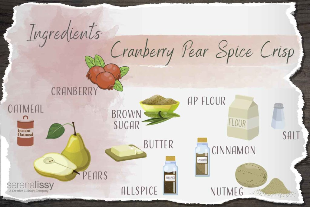 Ingredients for Cranberry Pear Spice Crisp