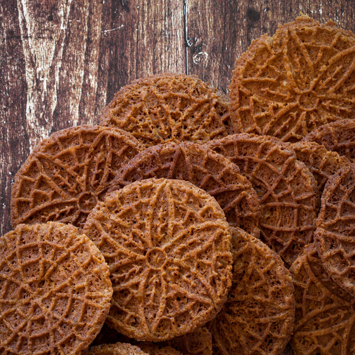 Ginger Molasses Pizzelles