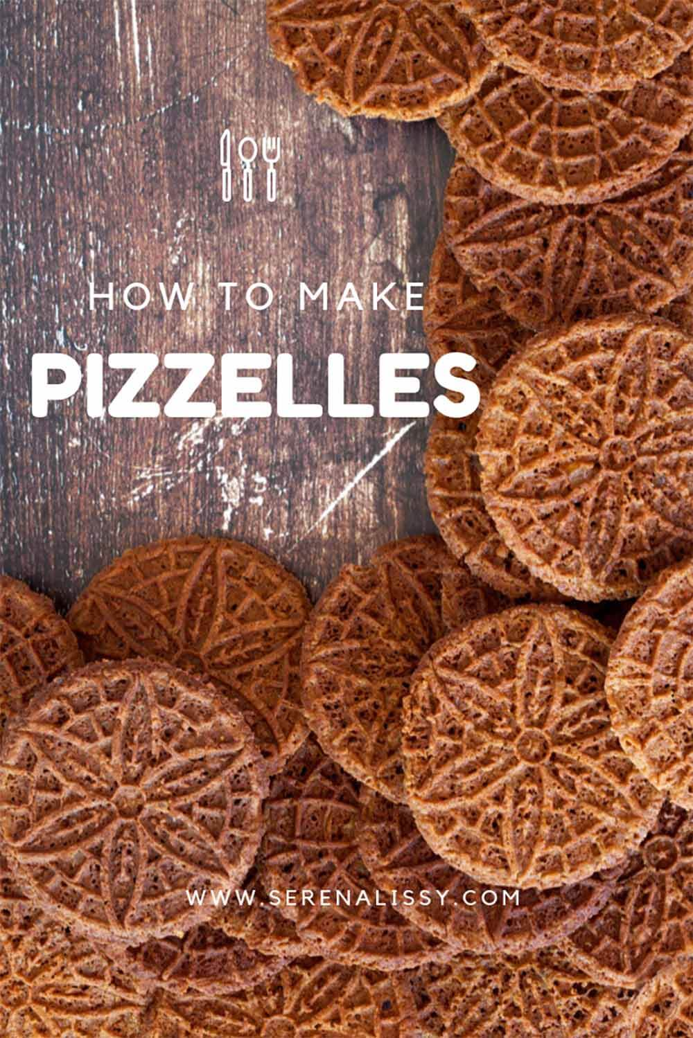 How to make ginger molasses pizzelles