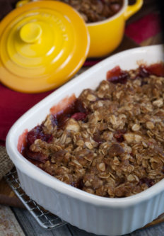 Cranberry Pear Spice Crisp