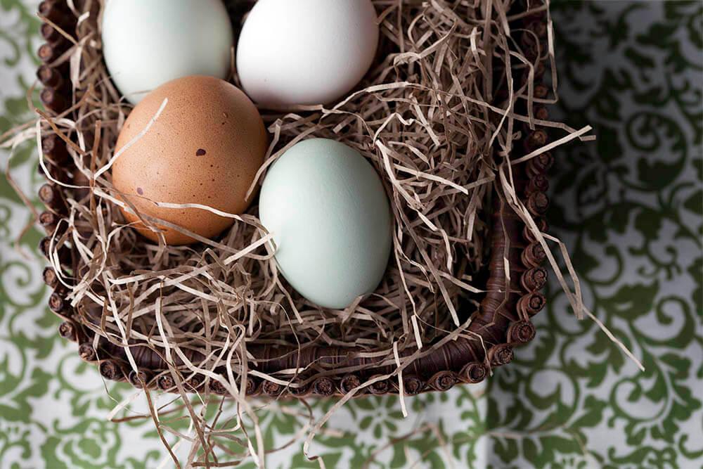 Boiled Eggs in Basket