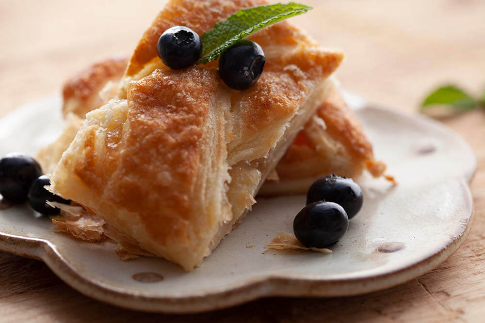 Breakfast Pastry on Plate