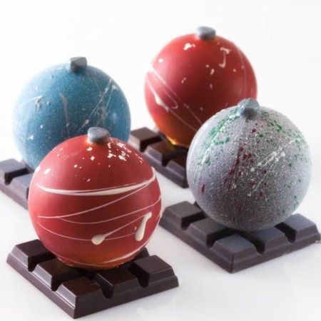 Serena Lissy Chocolate Holiday Chocolate Ornaments
