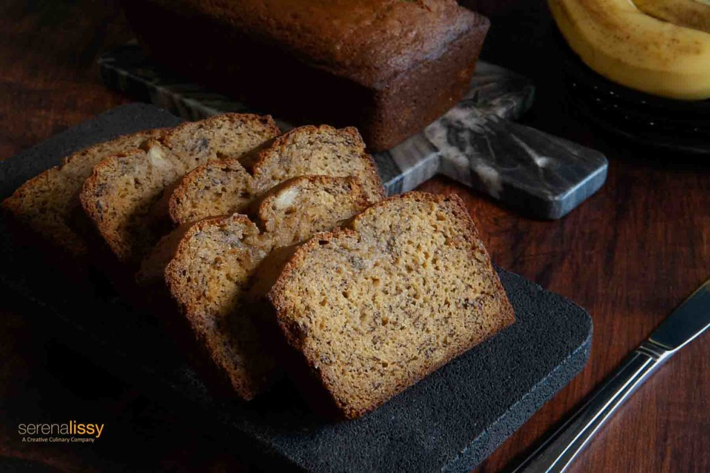 Banana Bread on Cutting Board