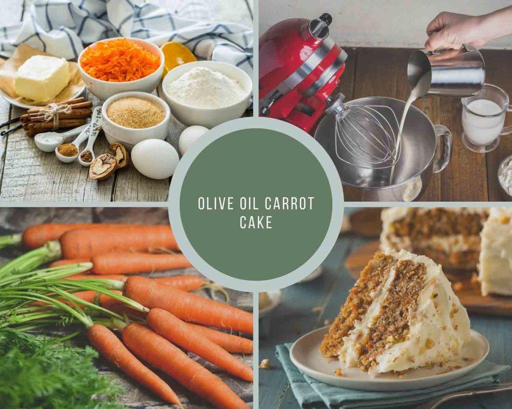 Olive Oil Carrot Cake Process Shot