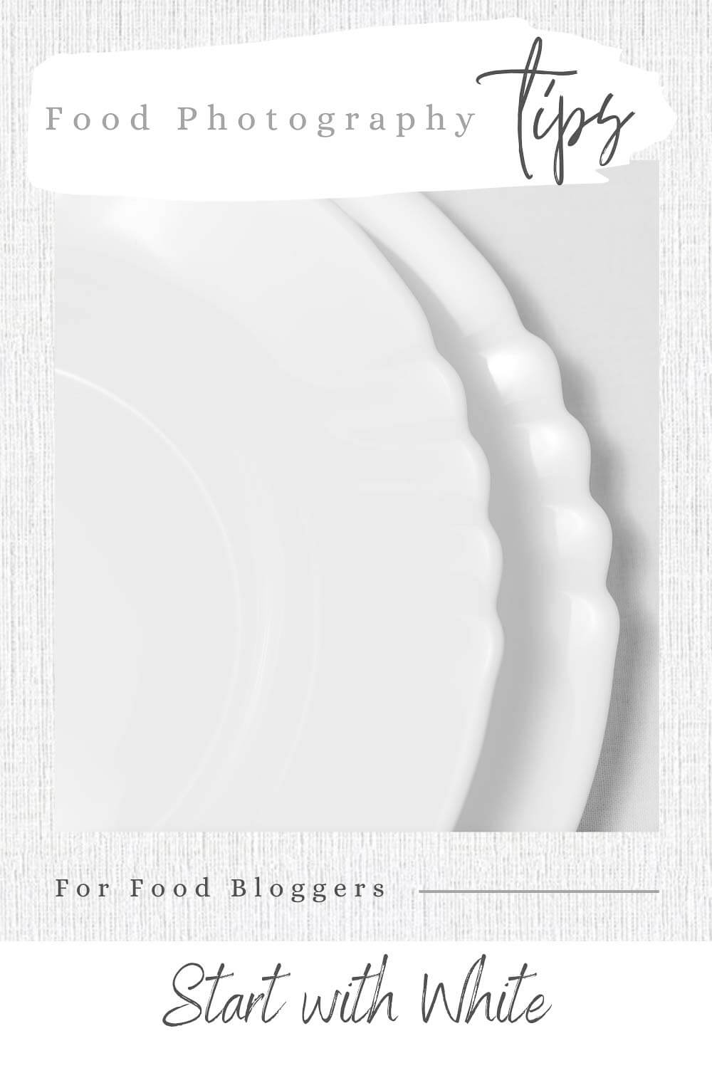 Empty White Plates with White Background