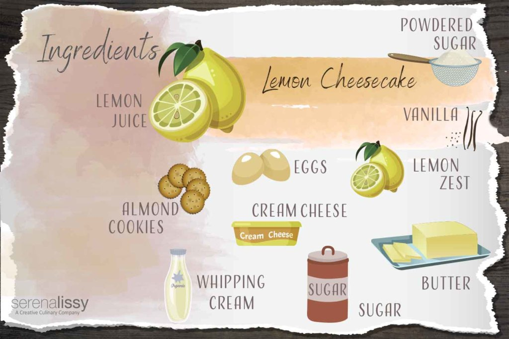 Lemon Cheesecake Ingredients