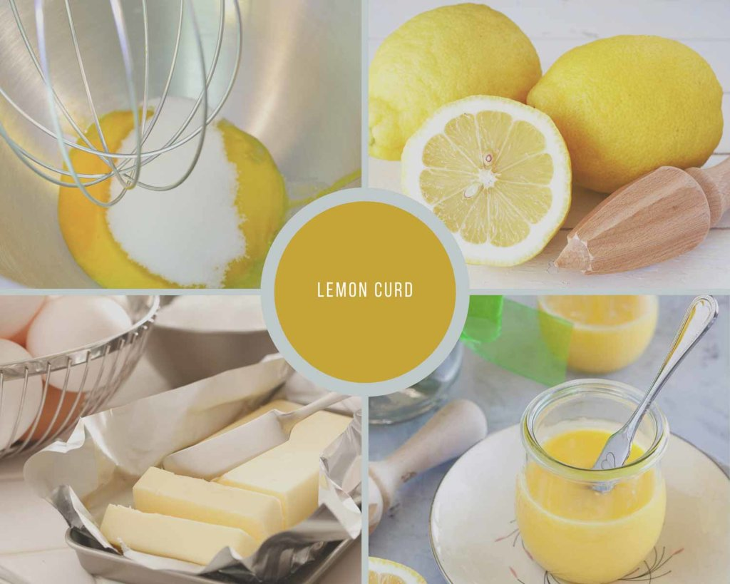 Process Collage for steps to make lemon curd