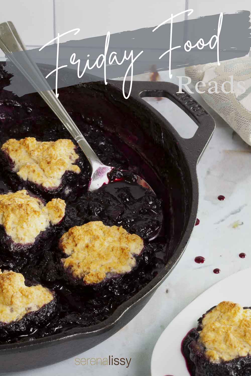 Mixed Berry Slump in Cast Iron Skillet