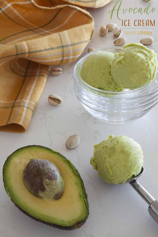 Scoop of Avocado Ice Cream