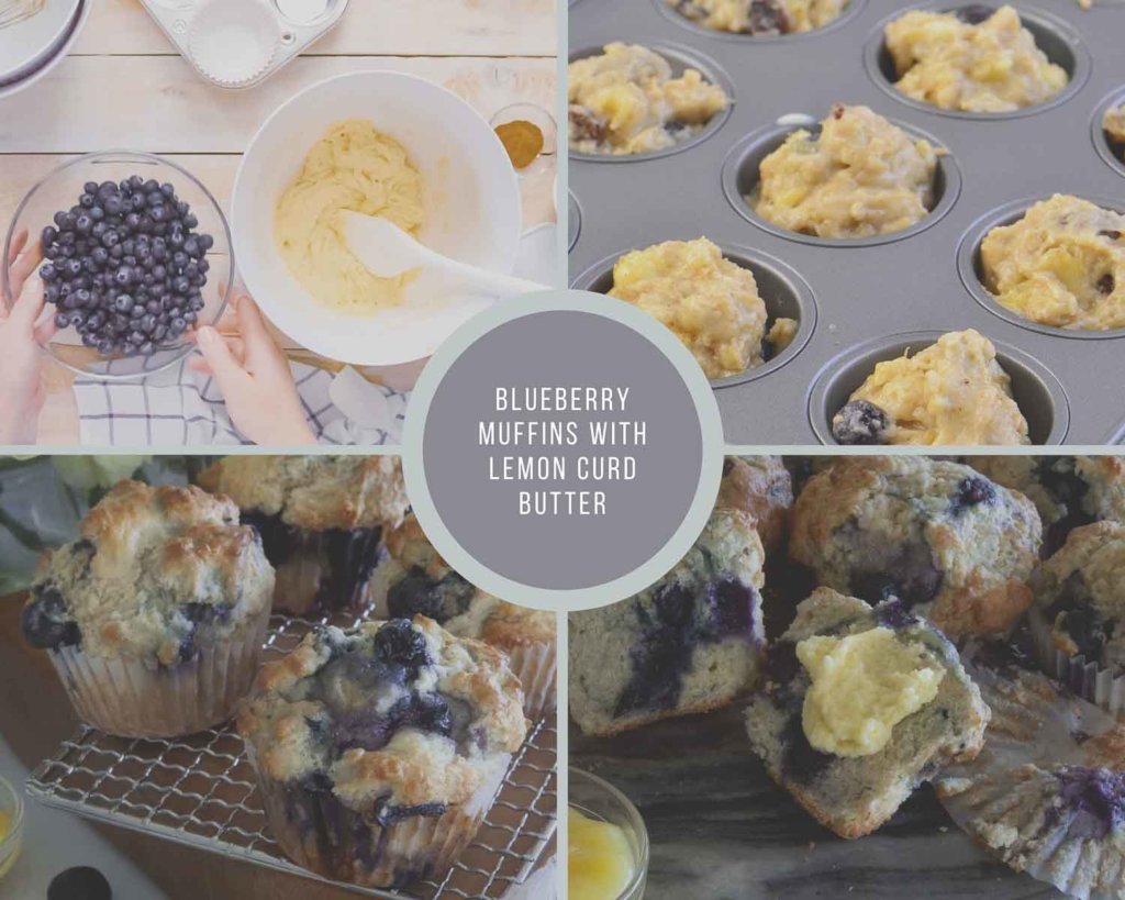 Blueberry Muffins Process Collage