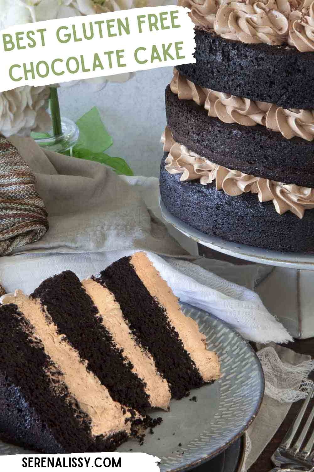 Chocolate Cake decorated with buttercream