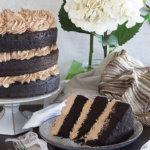 Gluten Free Chocolate Cake on a Plate