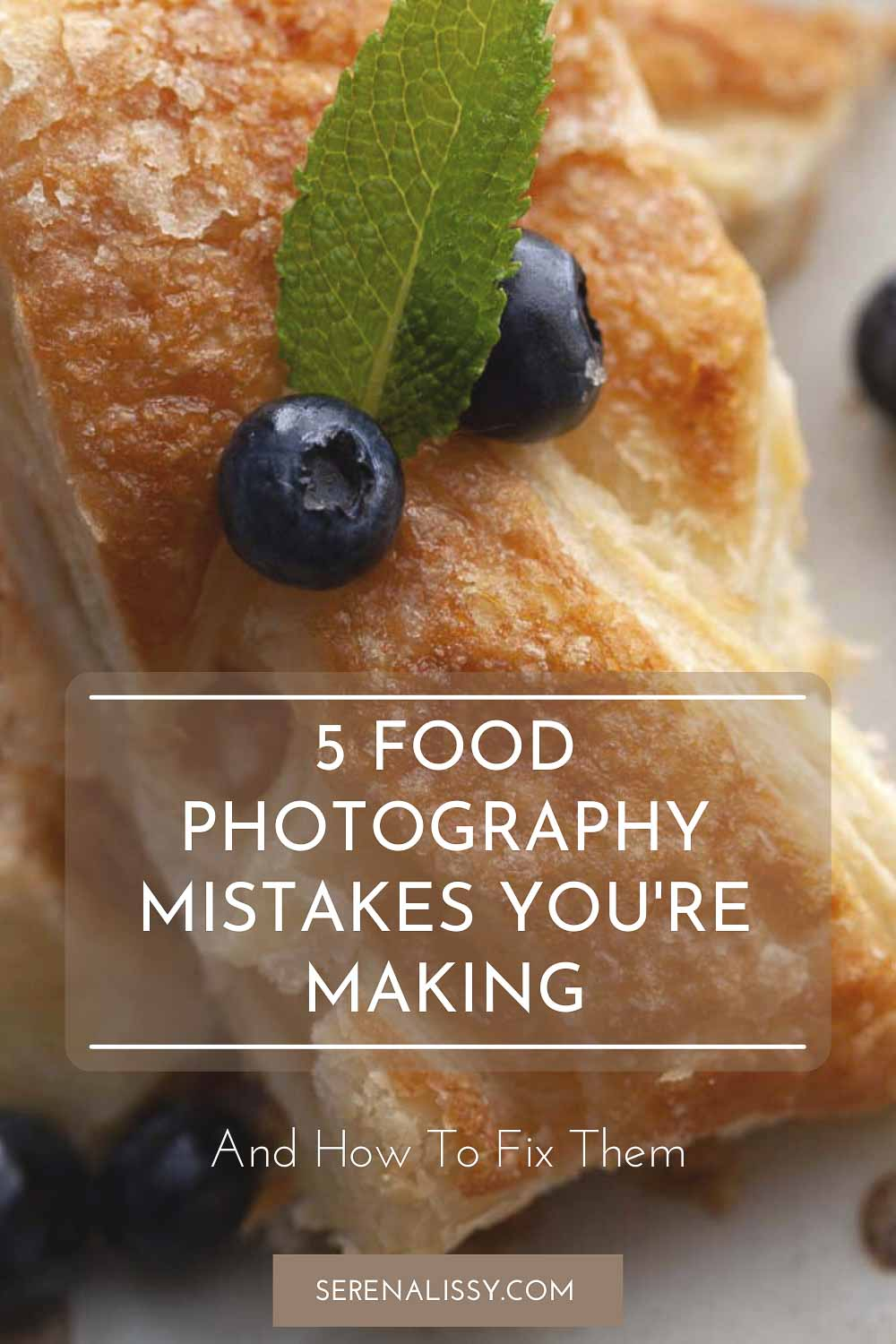 Photography Mistake shown using pastry