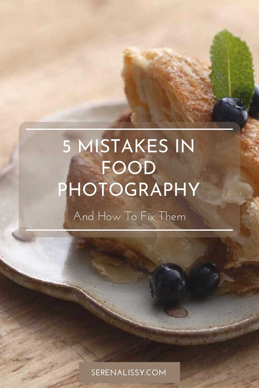 Pastry on Plate showing photography mistake