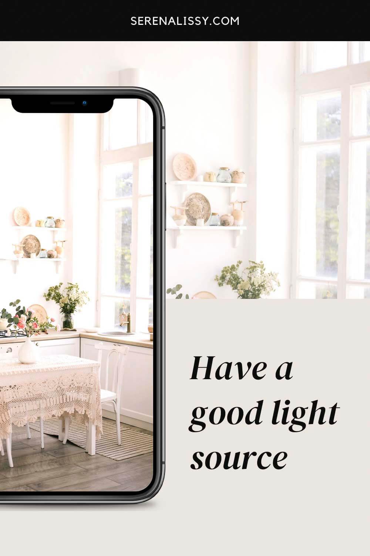 Kitchen window illuminating the room
