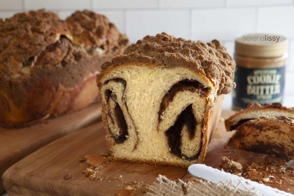Two loaves of speculoos Babka