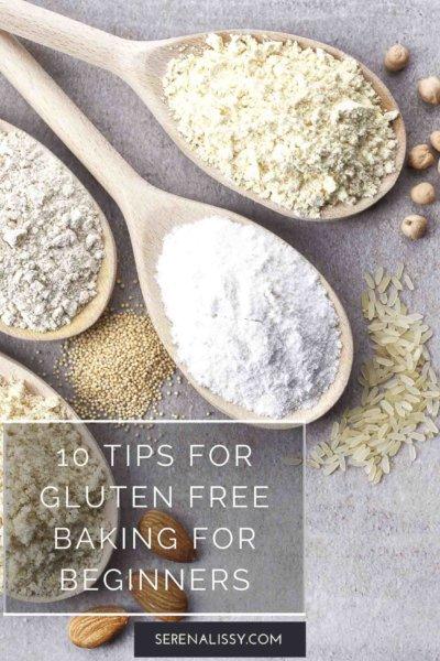 Gluten free flours on cabinet