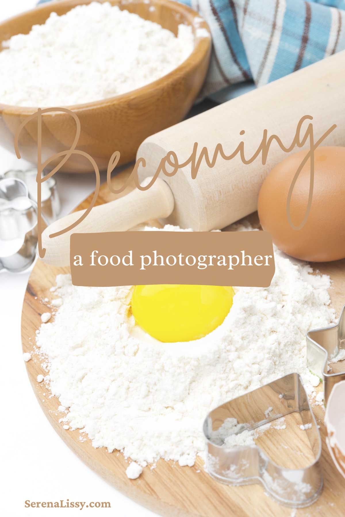 Eggs, flour and rolling pin on table