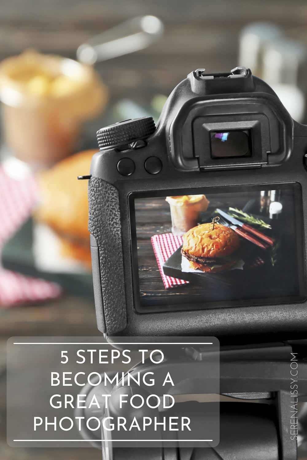 dslr camera taking image of food on table