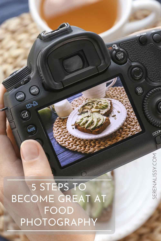 dslr camera taking image of avocado toast
