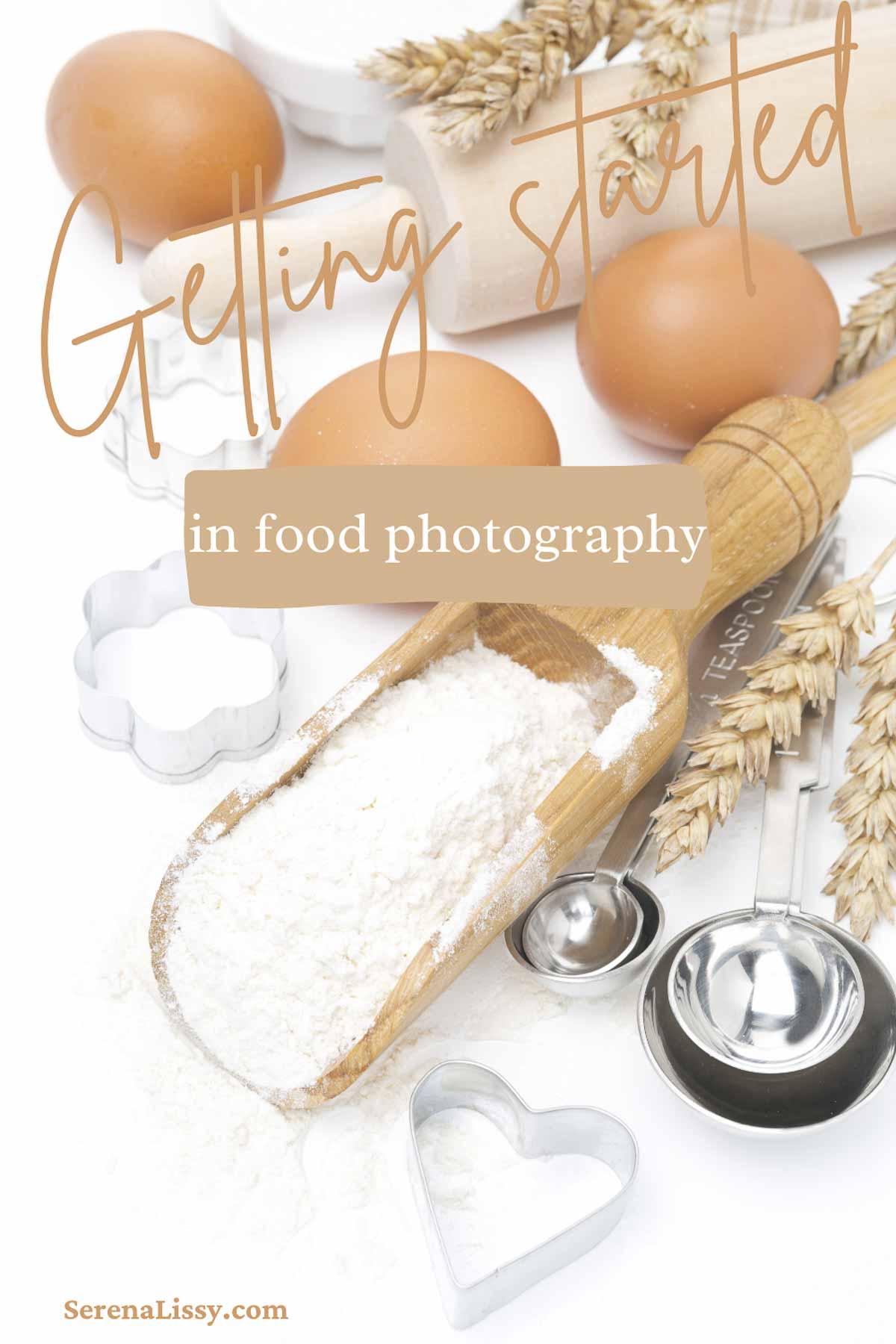 Flour and eggs on a table