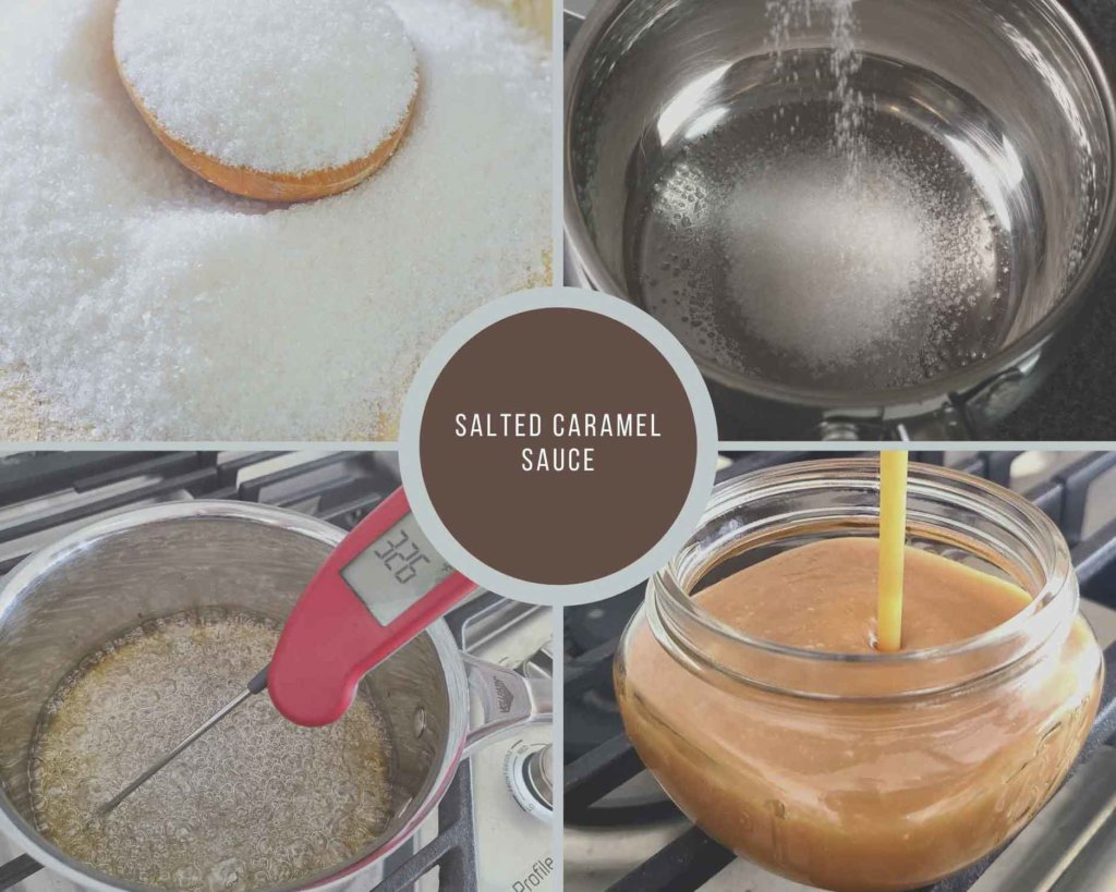 Process Collage How to make caramel