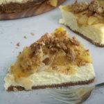 Slice of Apple Crumble Cheesecake