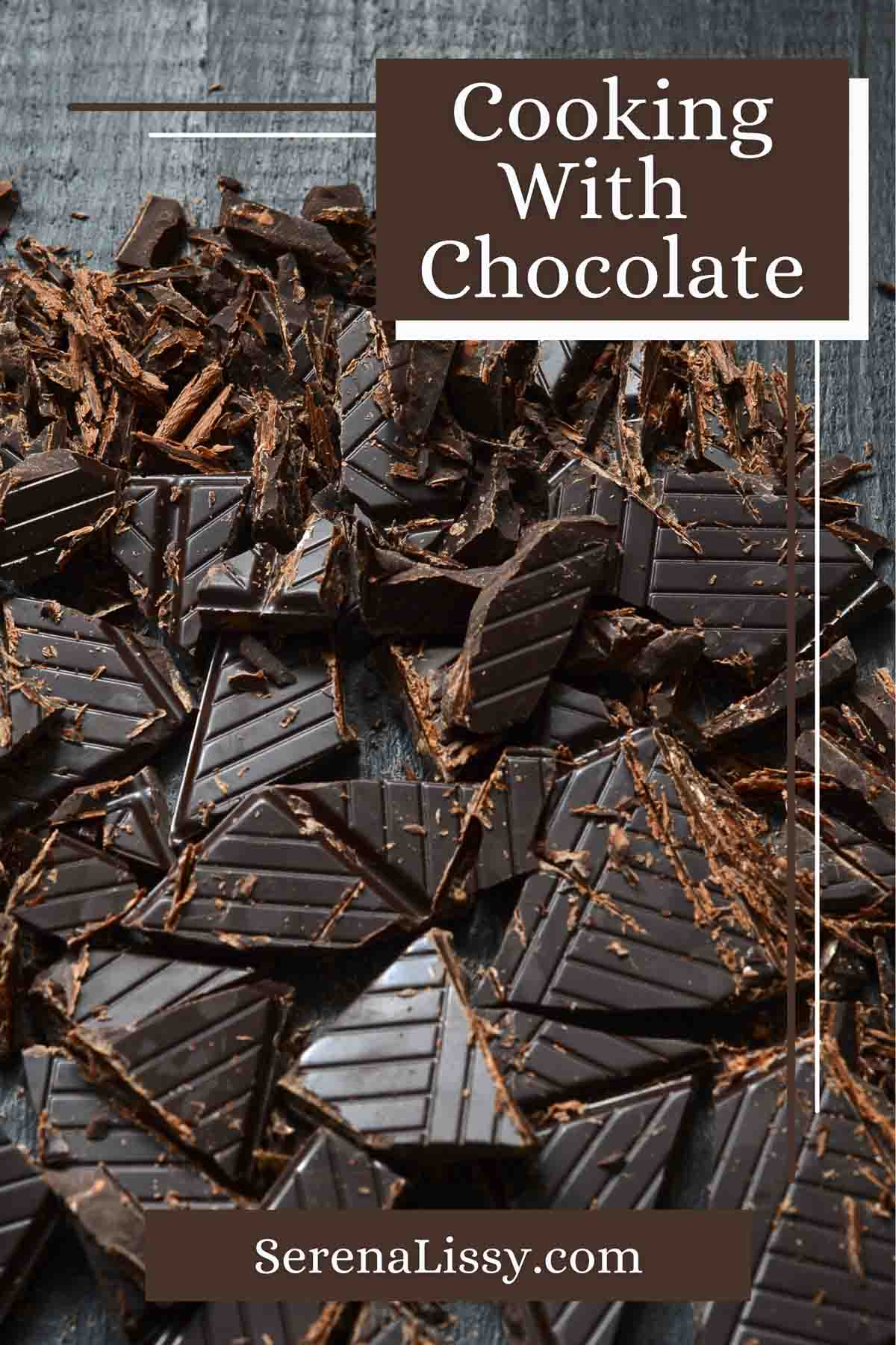 Chopped Up Chocolate used for baking