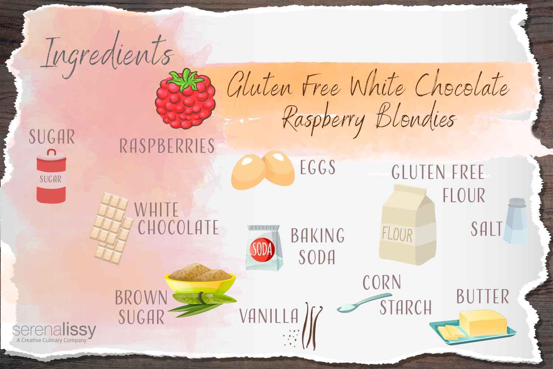 Illustration of Ingredients for Blondies