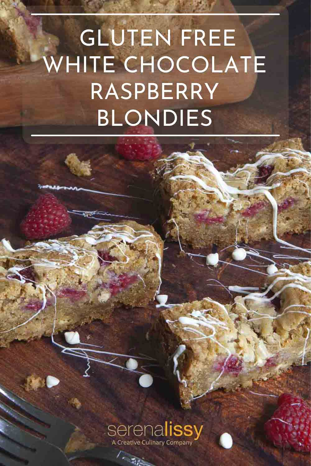Blondie slices on a table