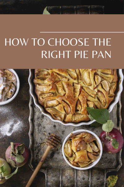Pie in a pan on table