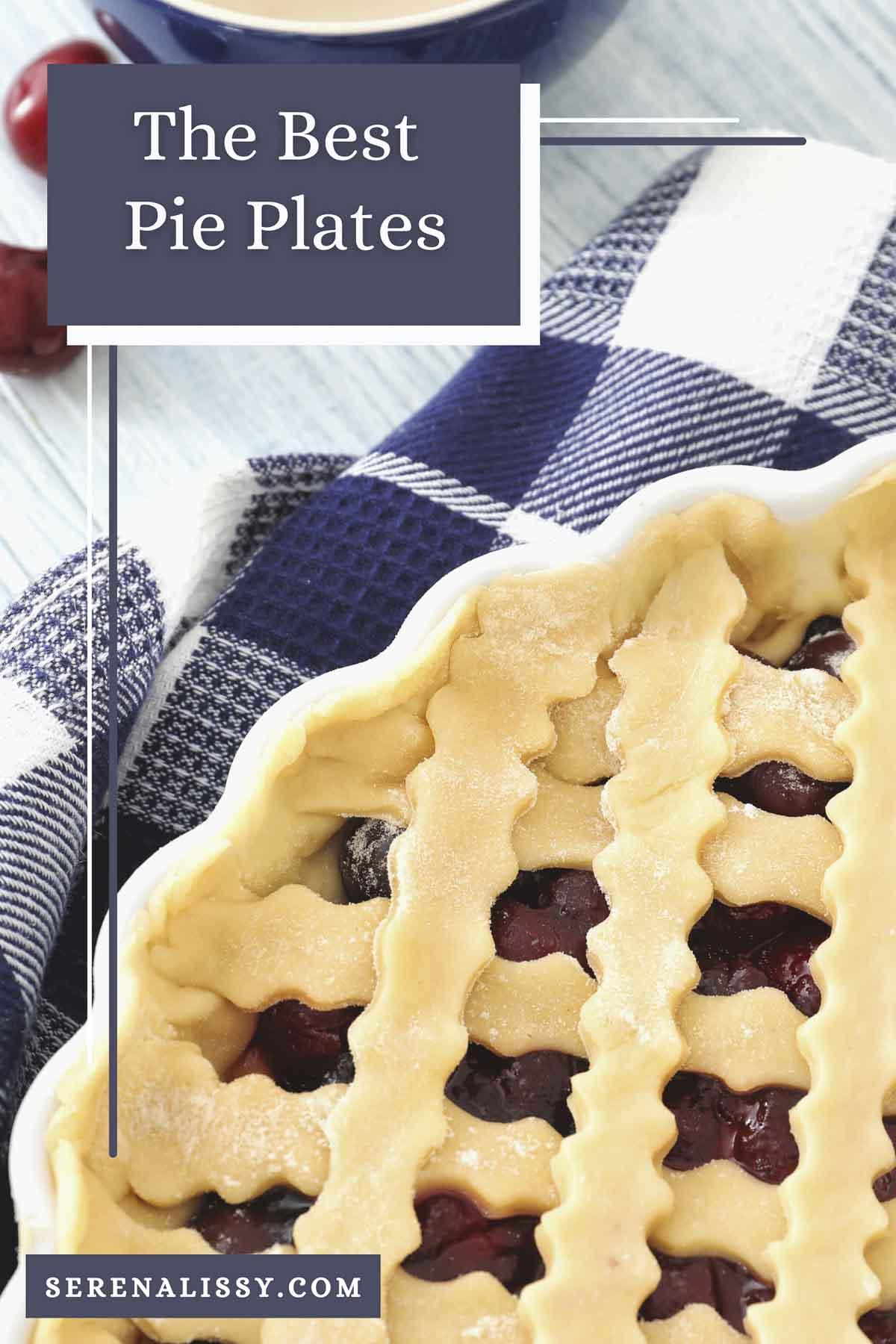 Lattice Pie in baking dish