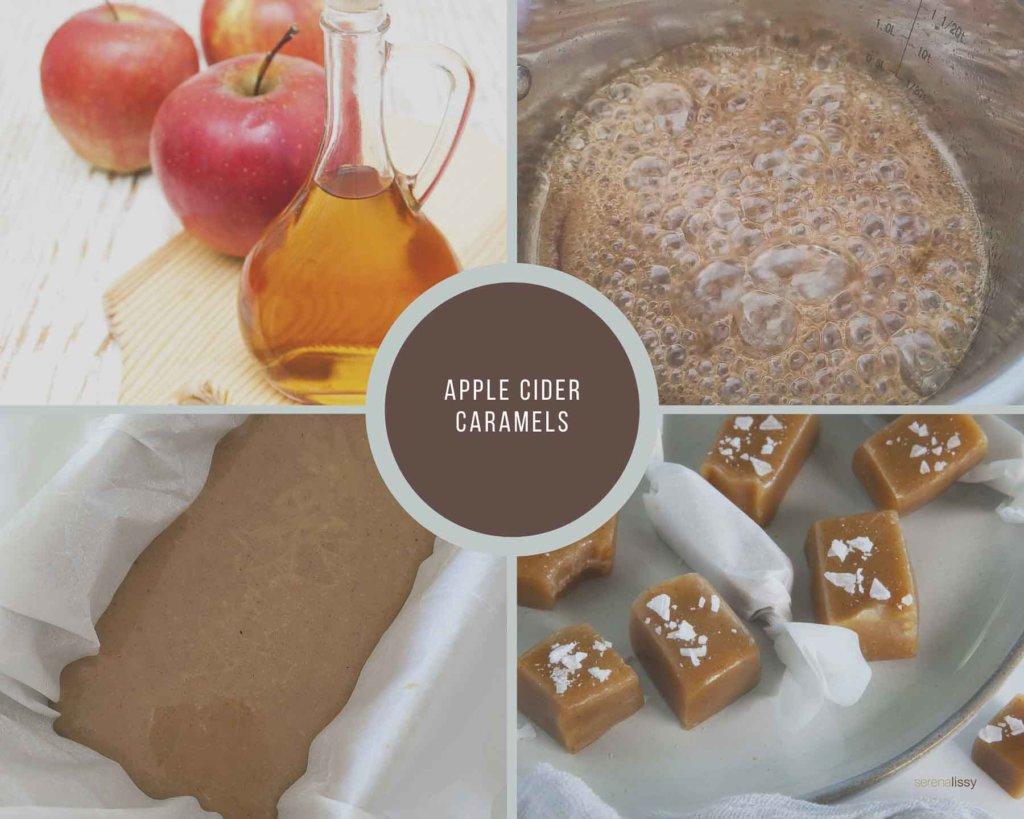 Apple Cider Caramels Process Collage