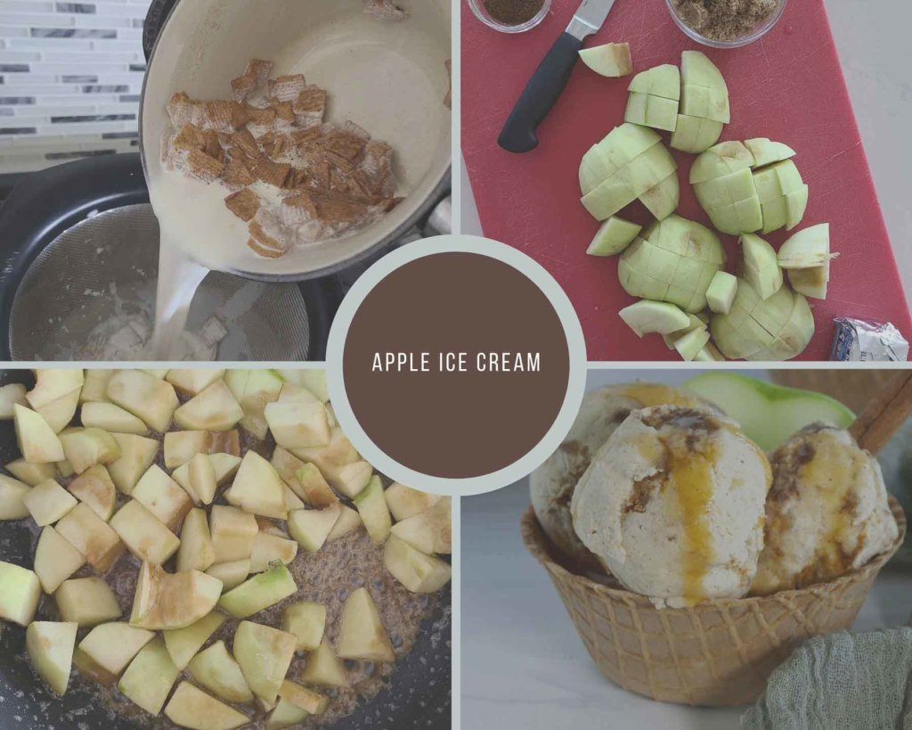 Apple Ice  Cream Process Collage